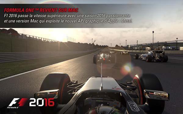 F1 2016 est maintenant disponible sur le Mac App Store