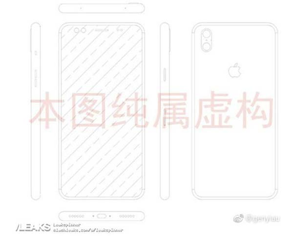 Fuite iPhone 8 : un schéma présentant un appareil photo à la verticale