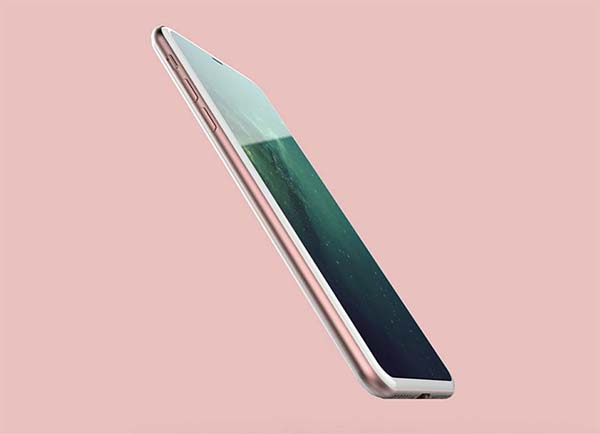 iPhone 8 : un joli rendu 3D présentant un appareil sur fond de rumeurs