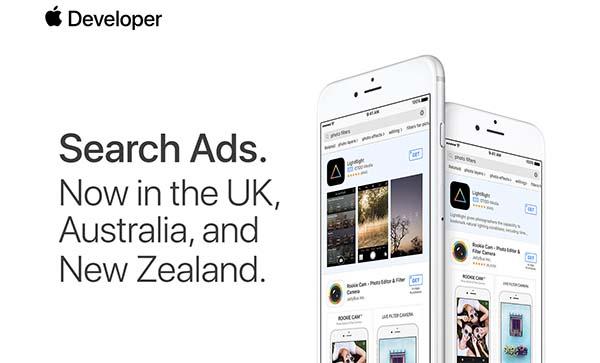 App Store : Apple lance les pubs de recherche dans trois nouveaux pays