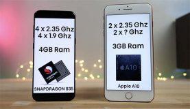 Quand l'iPhone 7 Plus se mesure au Galaxy S8 dans un test de rapidité ! [Vidéo]
