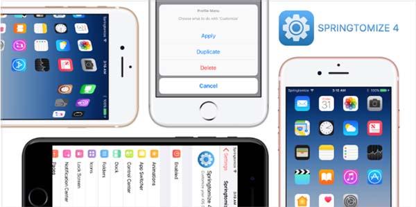 Springtomize 4 est enfin disponible et plus puissant que jamais pour le jailbreak iOS 10