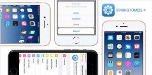 Springtomize 4 reçoit sa première mise à jour pour le jailbreak iOS 10