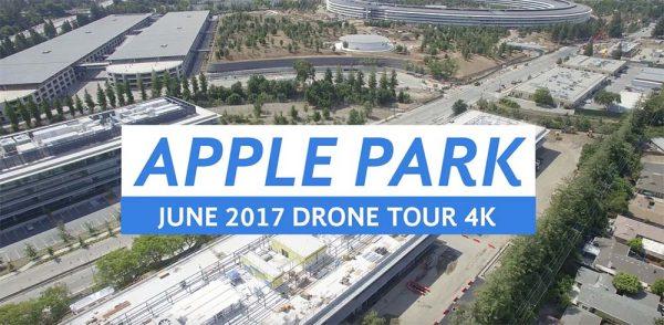 Le vidéaste Matthew Roberts a une nouvelle fois réalisé un survol de drone au-desus de l'Apple Park pour nous offrir une vue aérienne du site.