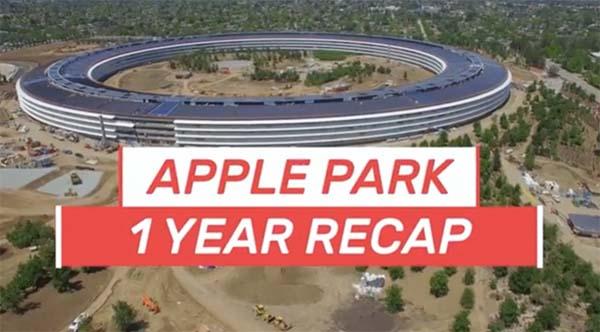 Apple Park, un vidéaste fait un récap des travaux des 12 derniers mois [Vidéo]