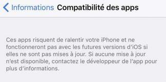 Astuce iOS - Vérifier les applications désuètes