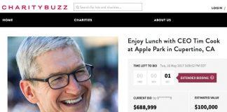 Charitybuzz : 688 999 dollars, c'est le prix pour déjeuner avec Tim Cook à l'Apple Park