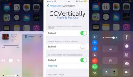 CCVertically met le Centre de contrôle à la verticale [Jailbreak iOS 10]