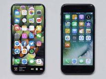 Petite comparaison entre le prétendu iPhone 8 et l'iPhone 7 !