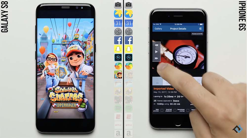 Speed Test : quand l'iPhone 6s de 2015 bat le Galaxy S8 de 2017