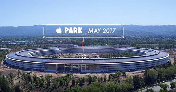 Une nouvelle vidéo de l'Apple Park vue d'en haut !