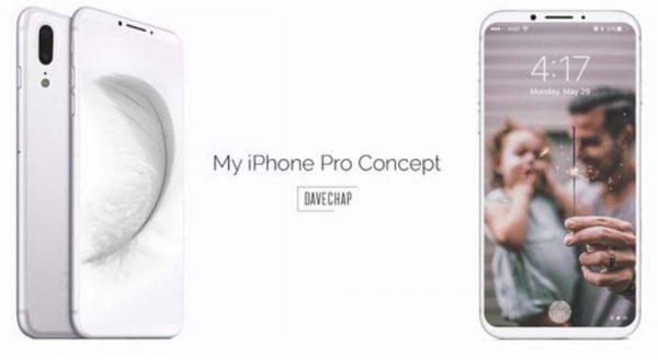 Quand un concept blanc fait la part belle à l'iPhone 8 (Pro) !