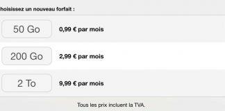 iCloud : 2 To de stockage à 9,99€ et suppression du forfait 1 To