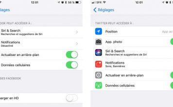 iOS 11 - Facebook et Twitter en natif, c'est fini !