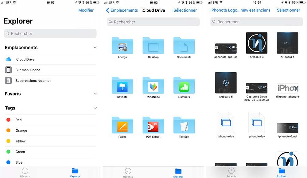 Ios 11 La Nouvelle App Files Remplace Et Integre Icloud Drive