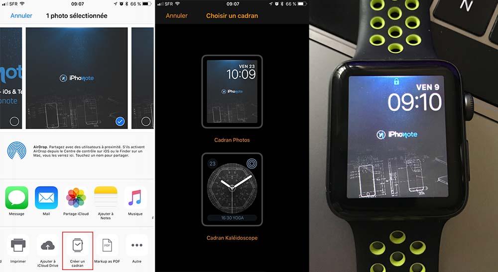 Ios 11 Permet De Creer Rapidement Des Fonds D Ecran Pour L Apple Watch Iphonote