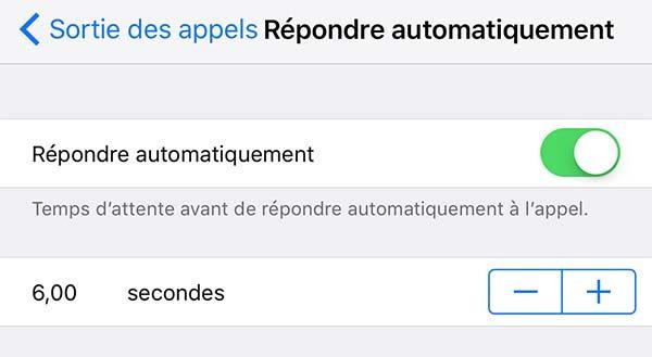 iOS 11 permet de répondre automatiquement aux appels