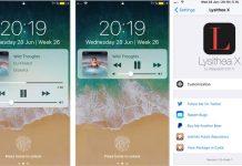 Lysithea X apporte les contrôles multimédia iOS 11 sur l'écran verrouillé