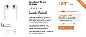 Promo Orange : les AirPods à seulement 129€ au lieu de 179€ !
