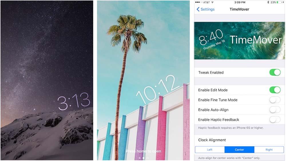 TimeMover permet de personnaliser l'horloge de l'écran verrouillé [Vidéo]
