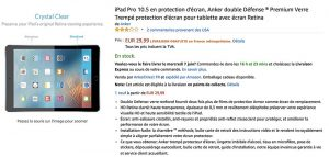 Une trace de l'iPad Pro 10,5 pouces par l'accessoiriste Anker sur Amazon