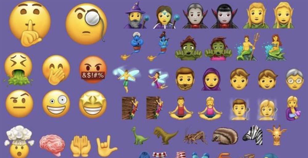 Voici les 56 nouveaux emojis que recevra bientôt iOS