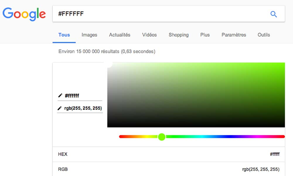Activer le générateur de palettes depuis Google