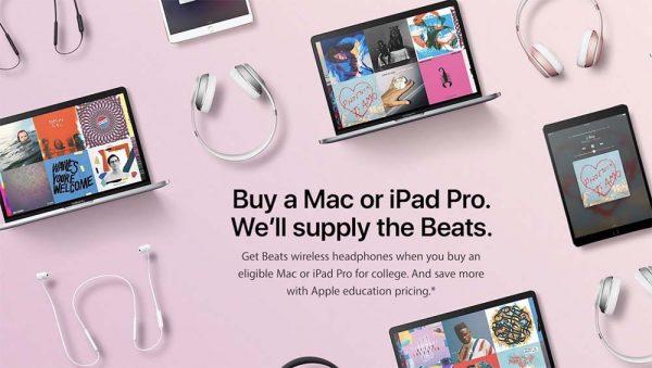 Apple lance son Back to School 2017, un casque ou des écouteurs Beats offerts !