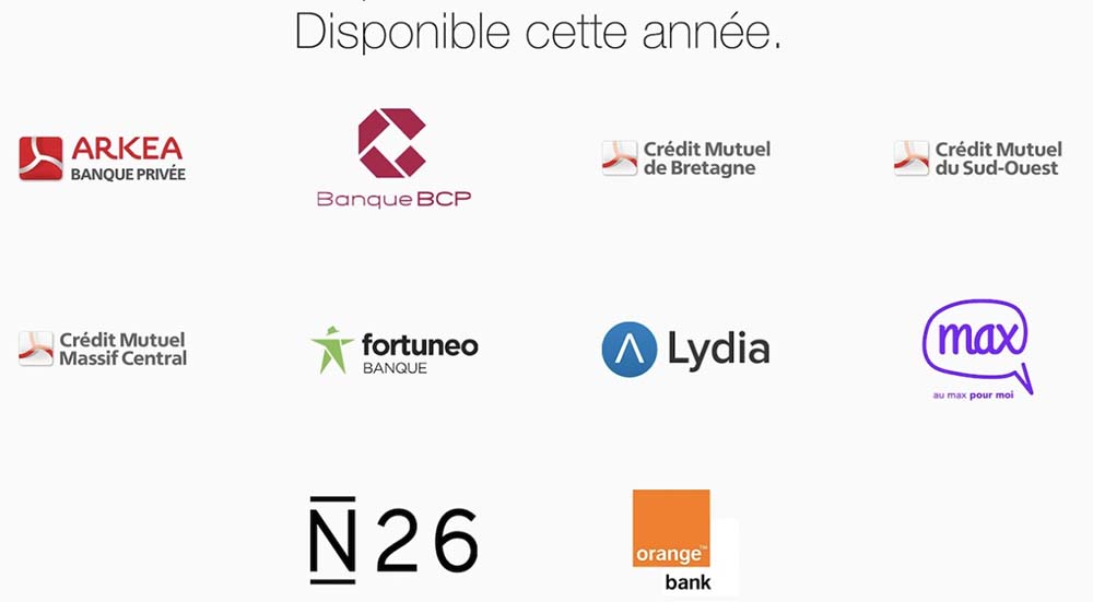 Apple Pay : BCP, Lydia, N26 et Orange Bank bientôt supportés en France