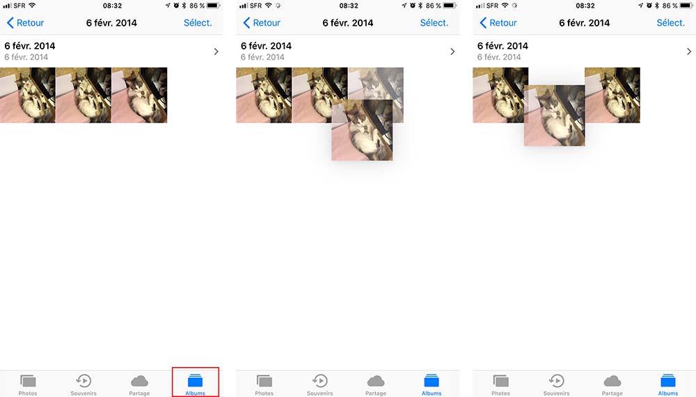 Astuce iOS 11 : réorganisez les photos / vidéos dans vos albums !