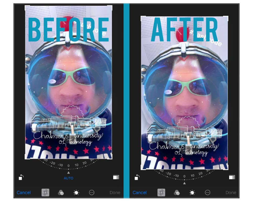 BetterPhotoCrop permet de recadrer une photo sans invoquer le Centre de notification