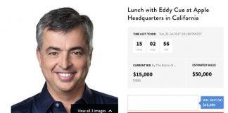 Charitybuzz : un nouveau déjeuner avec Eddy Cue est aux enchères