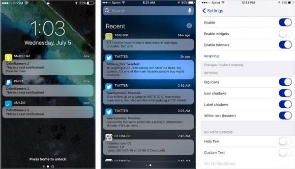 Modern apporte un nouveau look aux notifications et aux widgets