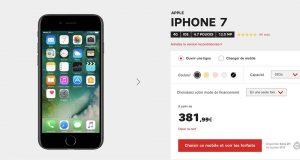 Promo iPhone 7 chez SFR jusqu'au 31 juillet inclus !