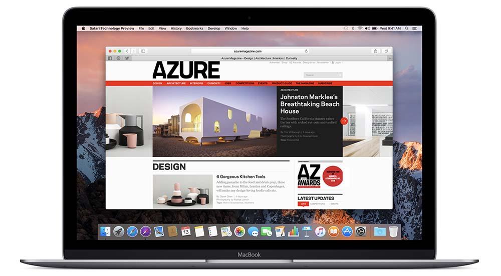 Safari Technology Preview 35 est disponible