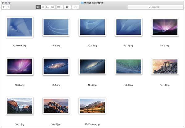 Télécharger tous les fonds d'écran OS X / macOS depuis Cheetah en 5K