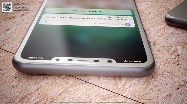 Voici l'iPhone 8 dans sa version blanche par Martin Hajek [Photos]