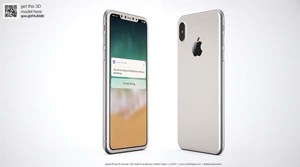 Voici l'iPhone 8 dans sa version blanche par Martin Hajek [Photos]