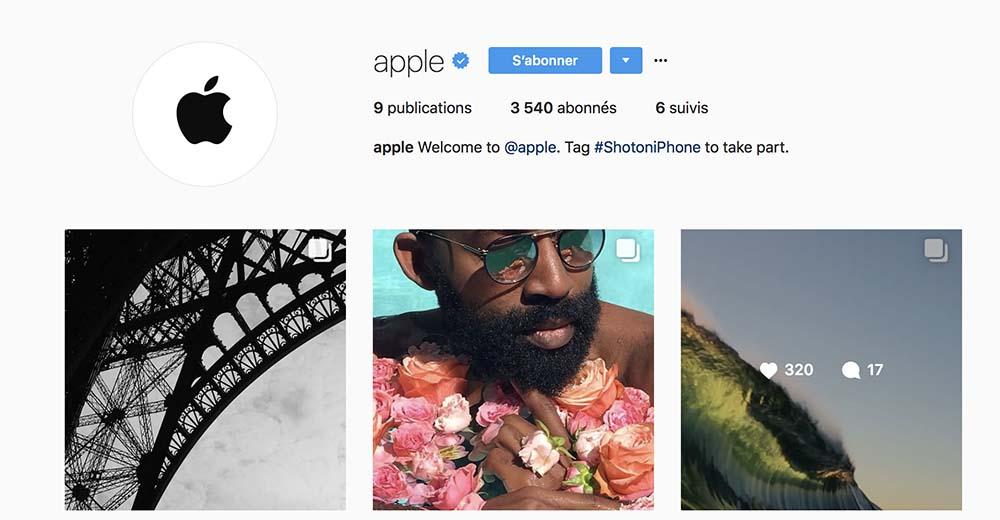 Apple a désormais son compte Instagram !