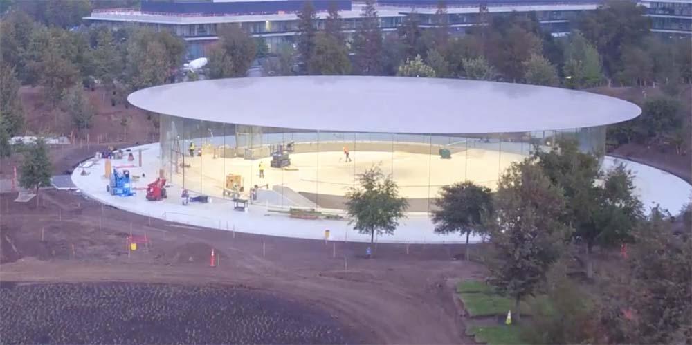 Apple Park : une nouvelle vue aérienne montre l'avancement des travaux