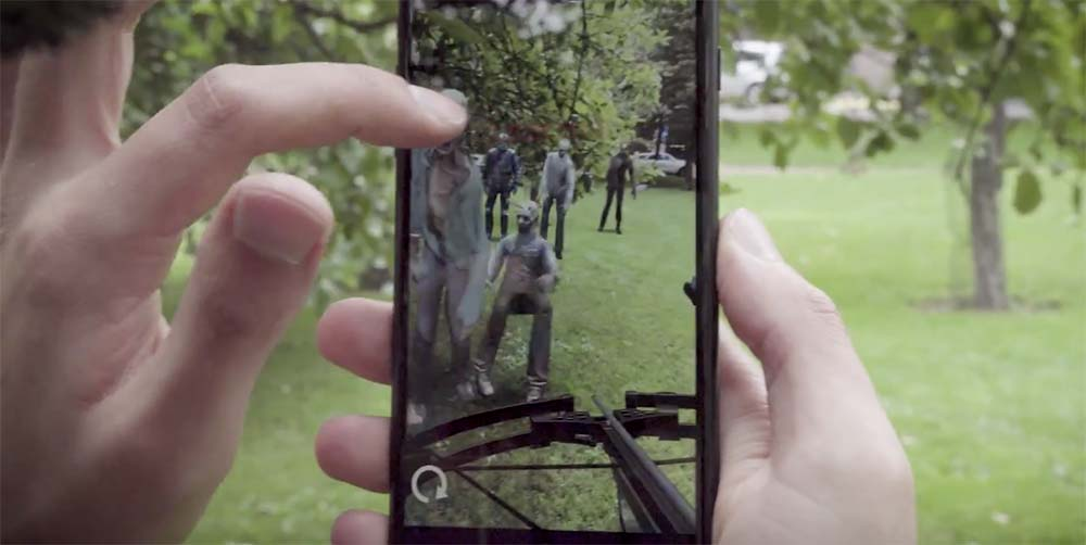 Apple fait la promo d'apps ARKit dont The Walking Dead, Ikea, et GIPHY