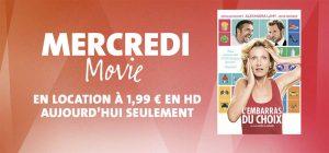 Mercredi Movie : le film « L'embarras du choix » en location pour seulement 1,99 € en HD