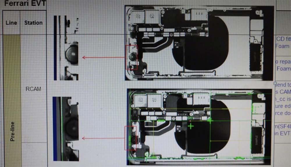 Fuite : voici l'image de l'iPhone 8 passé aux rayons X