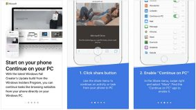 Microsoft permet de commencer une tâche sur iOS et de la poursuivre sur Windows 10