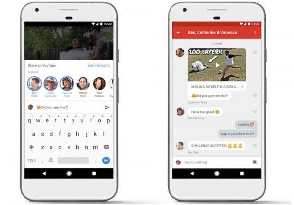Une messagerie instantanée pour l'appli mobile — Youtube