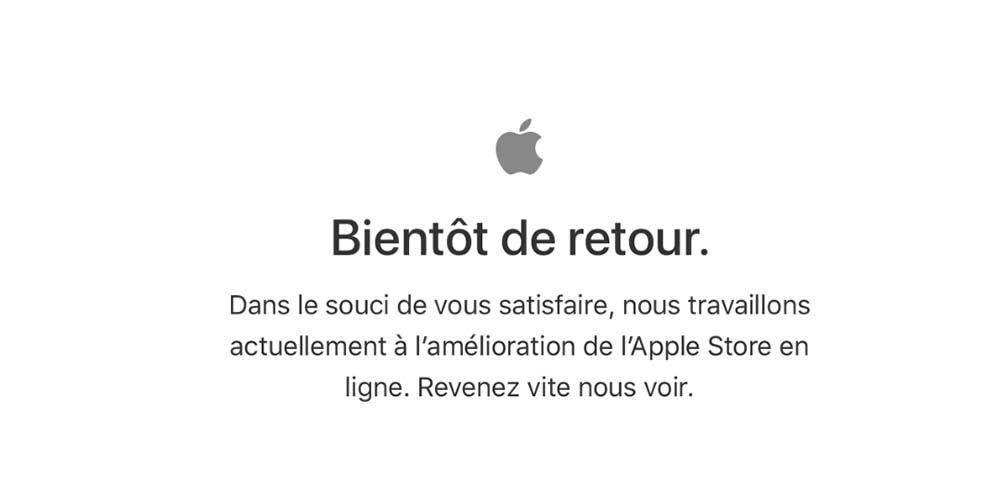 L'Apple Store en ligne ferme ses portes en attendant la keynote !