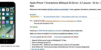 Bon Plan : iPhone 7 / 7 Plus de 32/128 Go à partir de 615€