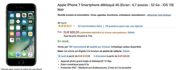 68ceea5284772 Bon Plan   iPhone 7 et iPhone 7 Plus en 32 128 256 Go à partir de 609€