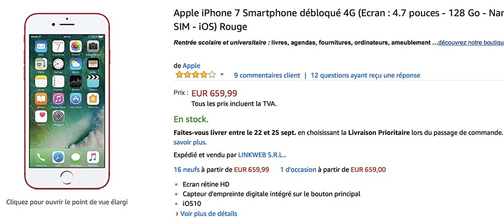 ee7722b013d87 Bon Plan   iPhone 7 (Plus)   iPhone 6 en 32 128 256 Go à partir de 289€