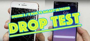 Drop Test - iPhone 8/8 Plus vs Galaxy S8/Note8 - lequel en sortira vainqueur ? [Vidéos]